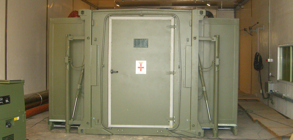 container inside climatic chamber